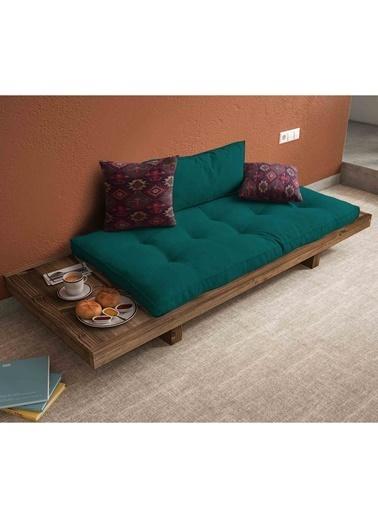 Woodesk Arin Masif Ceviz-Yeşil Renk Sedir Petrol